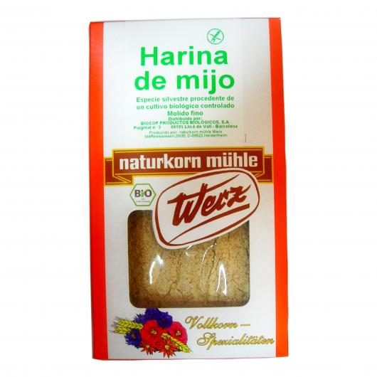 Farine de millet complet sans gluten Werz, 500 g