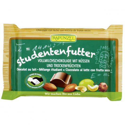 Snack di Cioccolato con Latte e Frutti secchi Rapunzel, 100 g