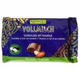 Snack de Chocolate con Leche y Almendras Rapunzel, 100g