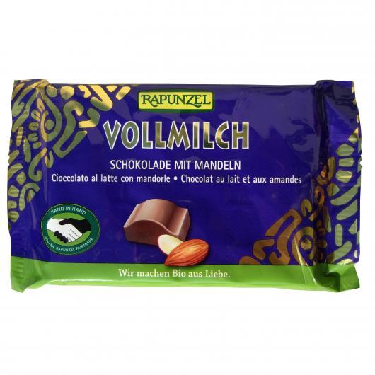 Snack di cioccolato con Latte e Mandorle Rapuzel, 100 g