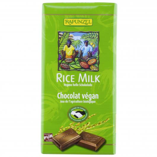 Tableta con cobertura de Chocolate Vegano Rapunzel, 100 g
