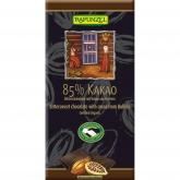Tableta de Chocolate al 85% de Cacao Rapunzel, 80 g