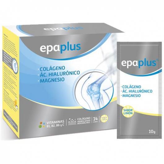 Colágeno con Magensio + Hialurónico sabor limón Epaplus, 14 sobre 1 al día