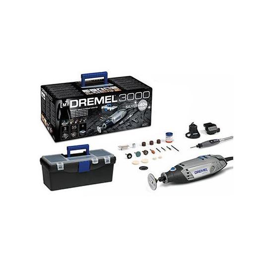 Kit Dremel 3000 Silver (55 accesorios + 3 complementos)