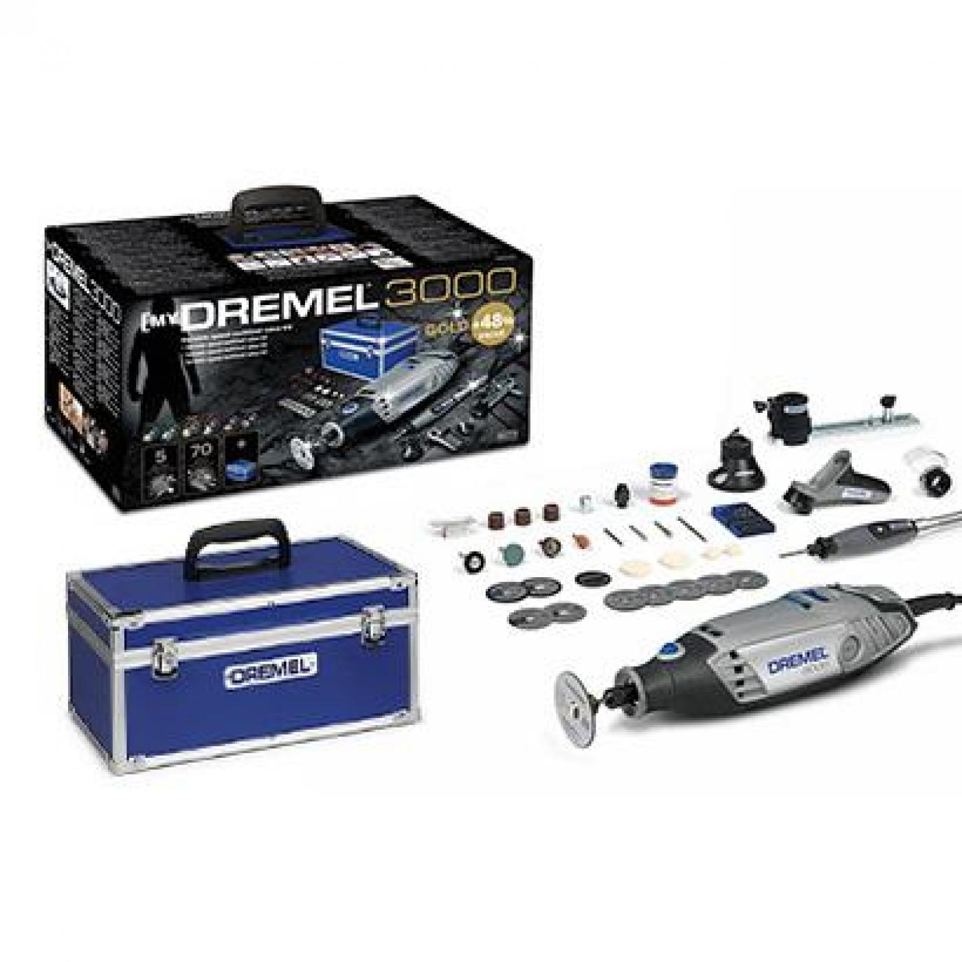 Kit dremel 3000 gold 70 accesorios 5 complementos por for Dremel 3000 accesorios