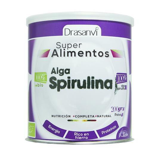 Alga Spirulina en polvo Bio Drasanvi, 200 g