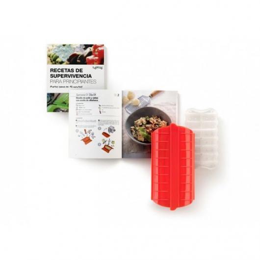 Kit estuche de vapor + libro de recetas para principiantes (catalán) Lékué