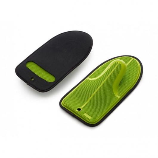 Gants de cuisine en néoprène et silicone, Vert