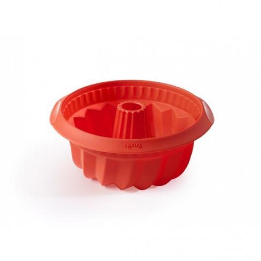 Molde savarin hondo 22 cm Lékué, rojo