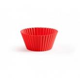 Pack de 6 Caissettes de Muffins Lékué, Rouge
