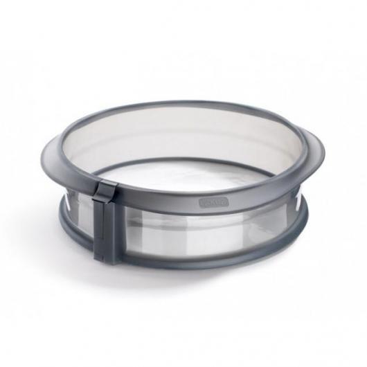 Formino circolare smontabile 23 cm con piatto di ceramica Lékué, bianco