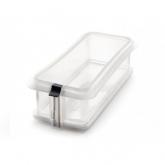 Molde rectangular desmontable 26,5 cm con plato de cerámica Lékué, blanco