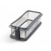 Moule rectangulaire démontable 26.5 cm avec assiette en céramique Lékué, Noir