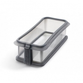 Molde rectangular desmontable 26,5 cm con plato de cerámica Lékué, negro