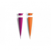 Formino per gelati 2 unitá Lékué, arancio e rosa
