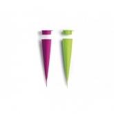 Formino per gelati 2 unitá Lékué, verde e rosa