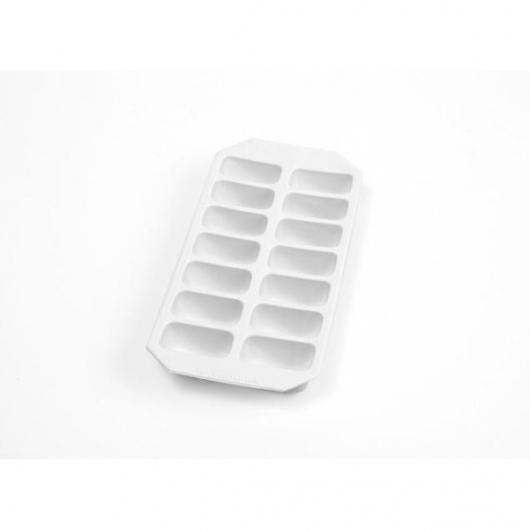 Vassoio per ghiaccio gourmet rettangolare Lékué, bianco