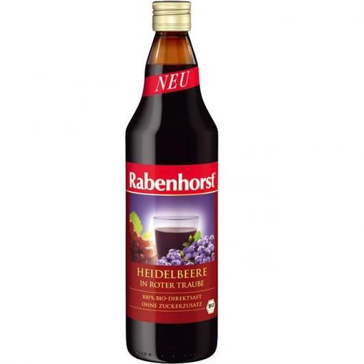 Succo di Mirtillo Blu e Uva rossa Bio Rabenhorst, 750 ml