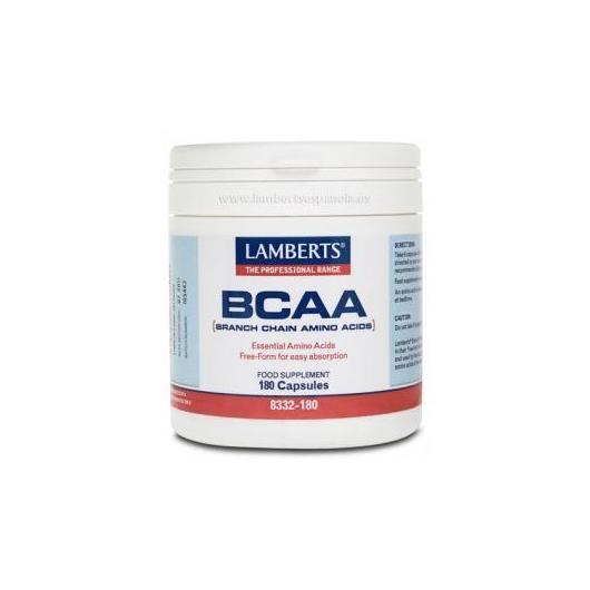 BCAA forma libre Lamberts, 180 cápsulas