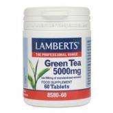 Chá verde 5000 mg Lamberts, 60 tabletes