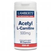 Acetil L-Carnitina 500 mg Lamberts, 60 capsule