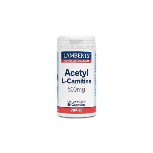 Acetil L-Carnitina 500 mg Lamberts, 60 cápsulas