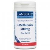 L-Metionina 500 mg Lamberts, 60 cápsulas