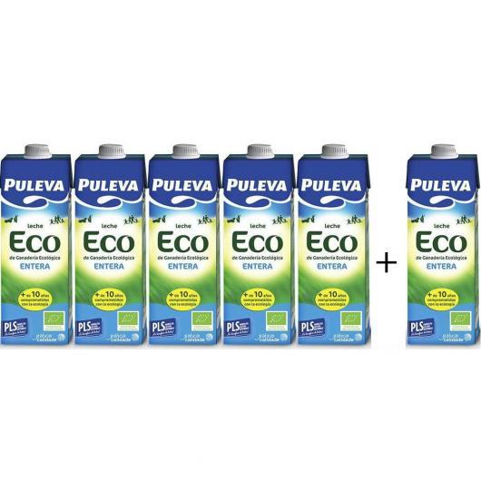 Pack 5+1 GRATUIT Lait entier bio Puleva, 1 L