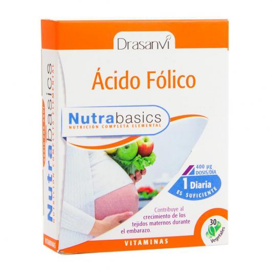 Ácido Fólico Nutrabasicos Drasanvi, 30 cápsulas