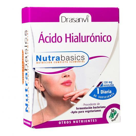 Ácido Hialurónico Nutrabasicos Drasanvi, 30 cápsulas