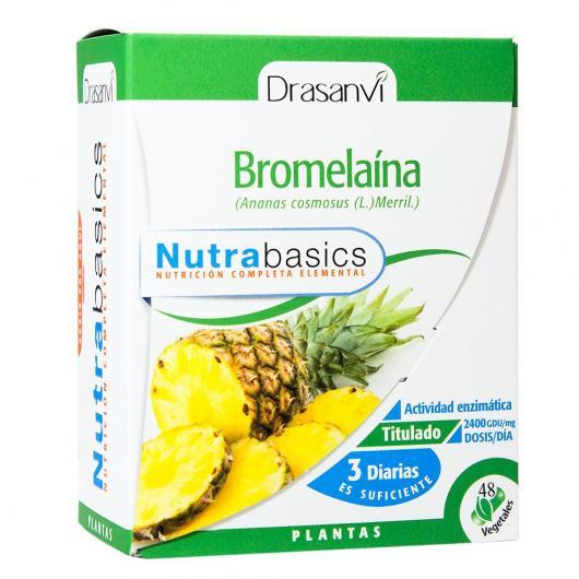 Bromélaïne Nutrabasics Drasanvi, 48 capsules