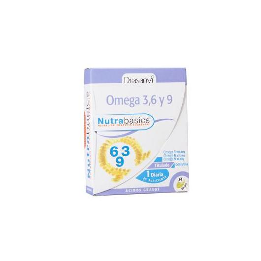 Omégas 3-6-9 Nutrabasics Drasanvi, 24 gélules