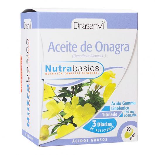 Huile d'onagre 500 Nutrabasics Drasanvi, 90 gélules