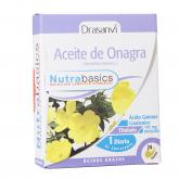 Aceite de Onagra 1000 1 al día Nutrabasicos Drasanvi, 24 perlas
