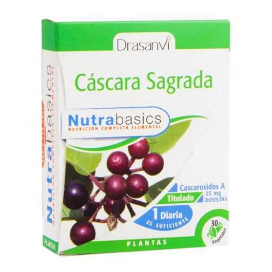 Cascara Sagrada Nutrabasics Drasanvi, 30 capsules