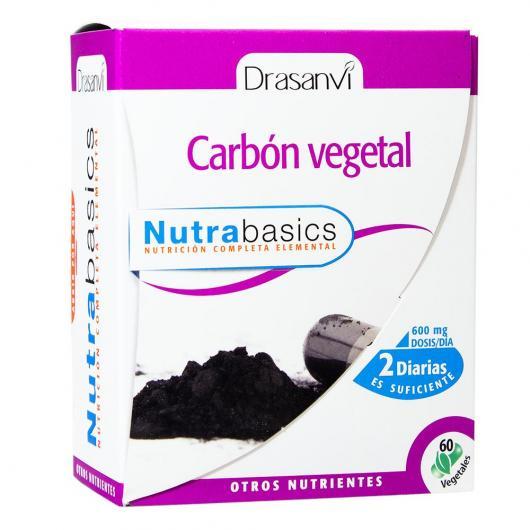 Carbón vegetal Nutrabasicos Drasanvi, 60 cápsulas
