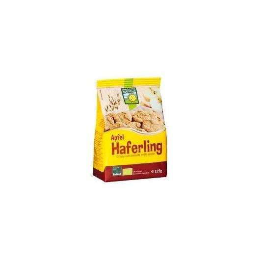 Haferling Biscuits croquants à l'avoine et aux pommes Bohlsener Muehle, 125 g