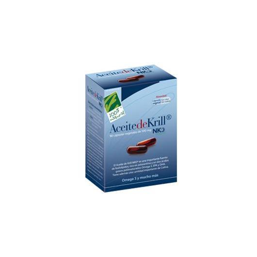 Aceite de Krill 500 mg Cien por Cien Natural, 90 cápsulas