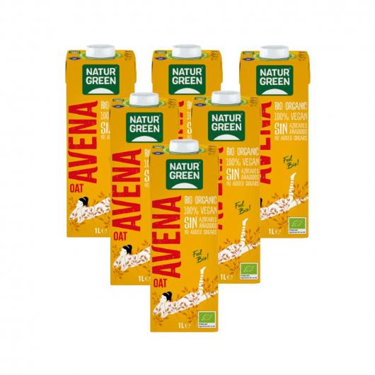 Pack 6L Bibita di Avena e Calcio NaturGreen