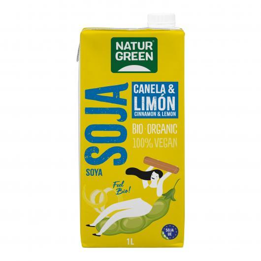 Boisson Bio au Soja, Cannelle et Citron NaturGreen, 1L