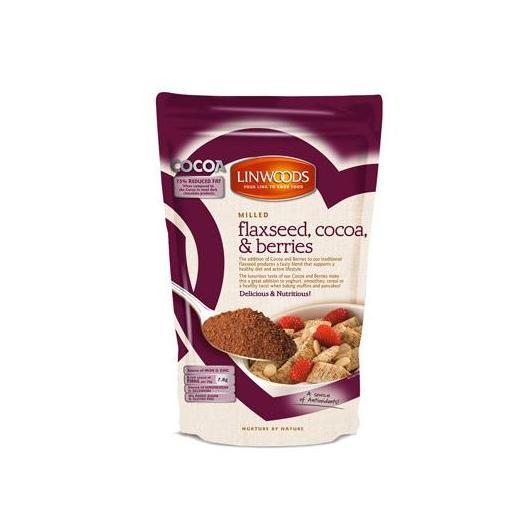 Semi di Lino, Cacao e Frutti di Bosco macinati Linwoods, 360gr