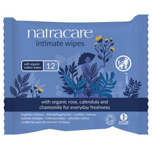 Serviettes Intimes format Distributeur Natracare, 12 unités