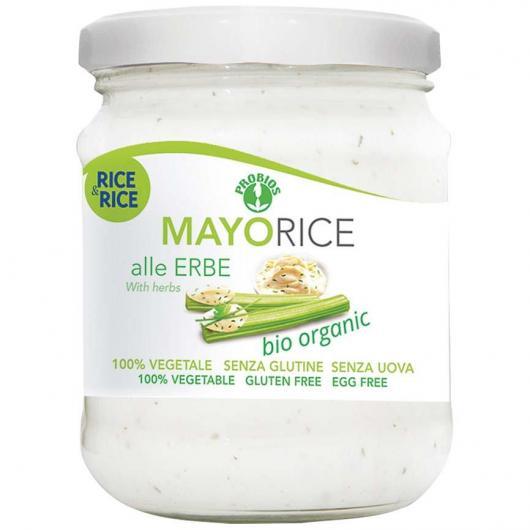 Mayorice salsa de arroz a las finas hierbas BIO Rice & Rice, 165 g