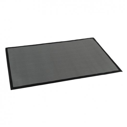 Alfombra de vinilo para interior y exterior color gris
