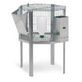 Round rabbit cage for males