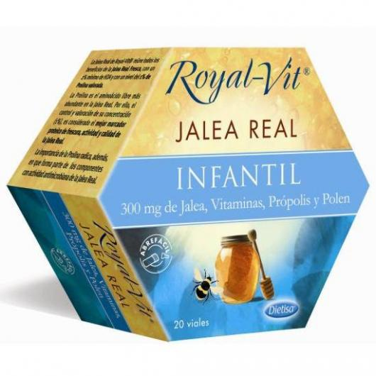 Jalea Real Royal Vit Infantil, 20 viales