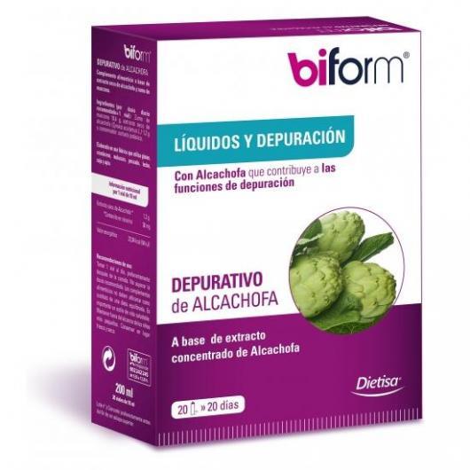 Dépuratif d'artichauts Biform, 20 flacons