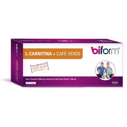 L-Carnitine 1,2 g + Café Vert 400 mg (Double Amincissant) Bifrom, 14 flacons