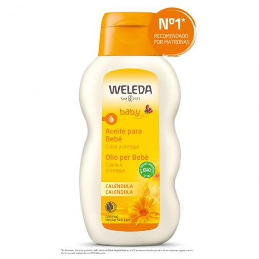 Huile pour le corps à la calendula Weleda, 200 ml