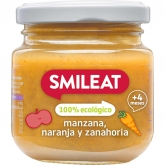 Smileat 4mths organic apple & orange babyfood 230g